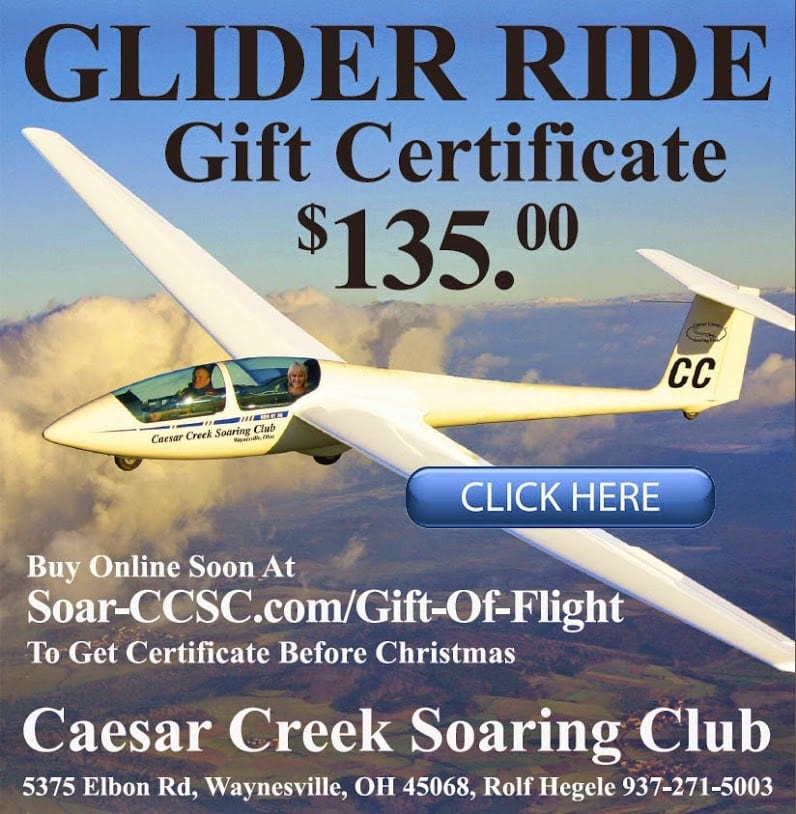10. Glider Ride - Experience the amazing sensation of flying like an eagle. No sound, no engine, no worries! An unbelievable experience http://soar-ccsc.com/Gift-Of-Flight