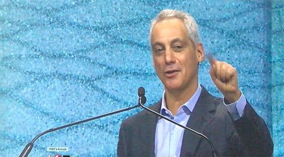 Mayor Rahm Emamuel closes Greenbuild 2018