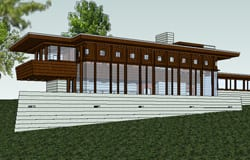 Frank Lloyd Wright Boulter House Tour and Energy Modeling Presentation - Learn how to get LEED for Homes' points.