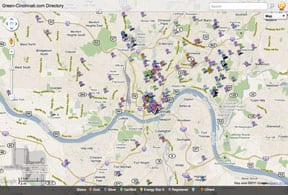 Interactive Green-Cincinnati.com Directory Map
